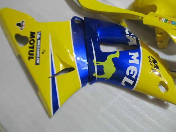 7gifts Fairing kit forYAMAHA YZF R1 1998 1999 yellow blue fairings set YZF R1 98 99 QF46