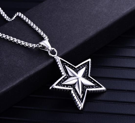 hot Vintage jewelry stainless steel punk pendant pendant male and female titanium steel necklaces han xiaoxiang pendant fashion popular