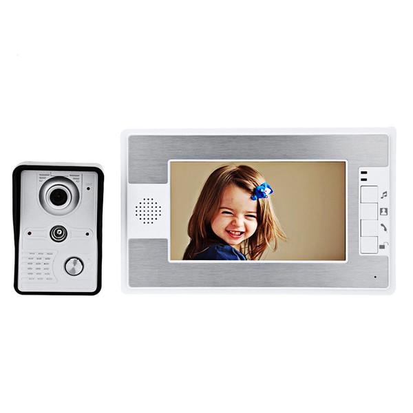 Fimei 7 Inches Doorbell TFT Screen Hands Free Video Interphone Doorbell Intercom Door Bell Infrared Night Vision EU Plug