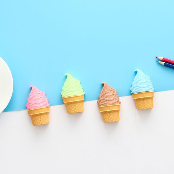 Acheter Creative Mignon Crème Glacée Double Trou Taille Crayon Enfants Prix Détudiants Fournitures Scolaires Kawaii Papeterie De 234 Du Hongheyu