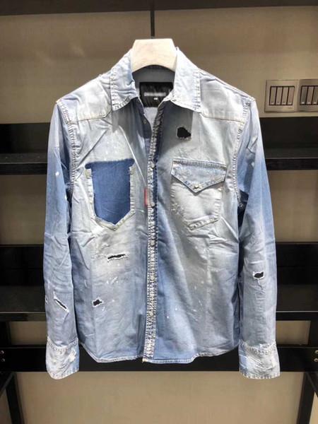 Nuevo vestido Camisas de moda de los hombres de lujo con estilo Casual vestido de diseño Camisa de lunares Muscle Fit Shirts Camisas de los hombres ocasionales