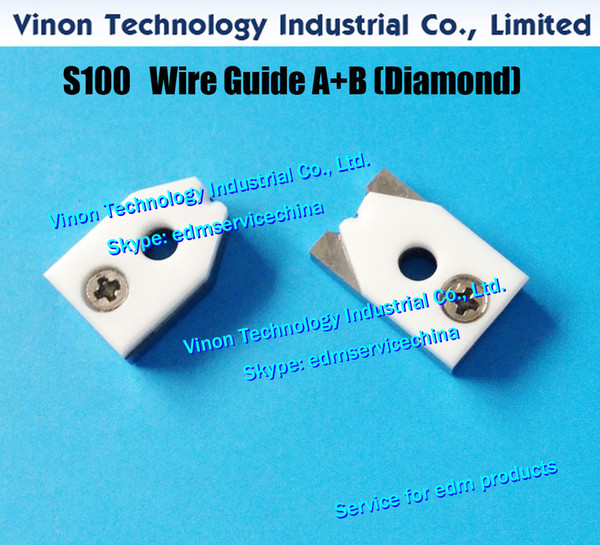 d=0.155mm S100 edm Wire Guide A+B Diamond 3084668, Upper Split Wire Guide AB 0.155mm 0204625 J13098A for AQ,A,EPOC series wire cut machine