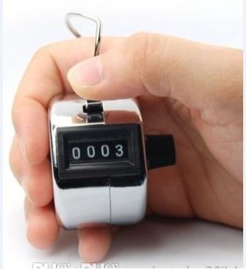 best selling Digits Stainless Counters Professional 4 Digit Hand Held Tally Counter Manual Palm Clicker Number Counting Golf b526