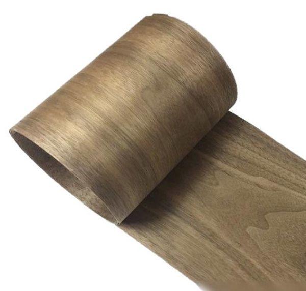 best selling L:2.5Meters pcs Wide:150mm Thickness:0.2mm Natural black walnut veneer Solid wood Speaker skinning veneer