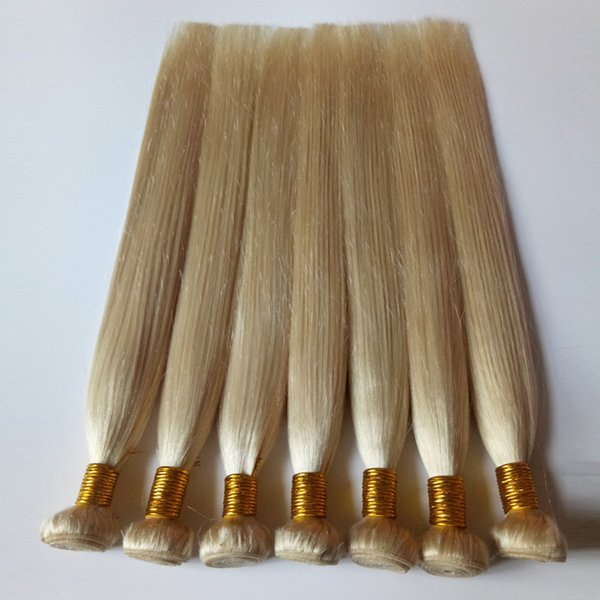 Manufacture Brazilian Virgin Hair Weave #613 blond Good price fashionable Remy Hair extensions Soft and smooth No shedding no knotting