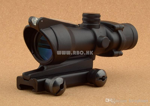 Tactical trijicon acog style 4x32 red optics fiber rifle scope hunting shooting M6884