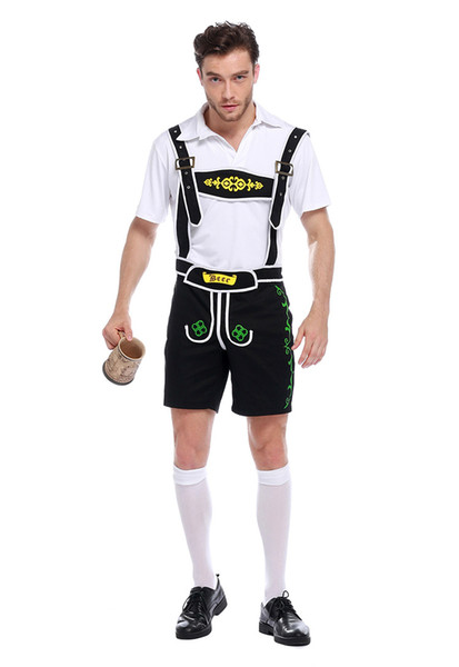 Adult Men's Oktoberfest Costumes Traditional German Bavarian Beer Male Cosplay Halloween Octoberfest Festival Party Clothes PS083