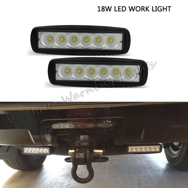 2pcs 5.5inch 18W led work light marine boat mini light bar for 4x4 offroad Jeep Wrangler truck ATV UTV motorcycle driving lamp