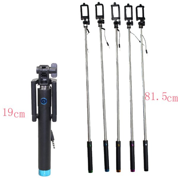 High Quality Universal Mini Selfie Stick With Button Wired Silicone Handle Monopod Universal For iPhone ZTC Xiaomi Sticks