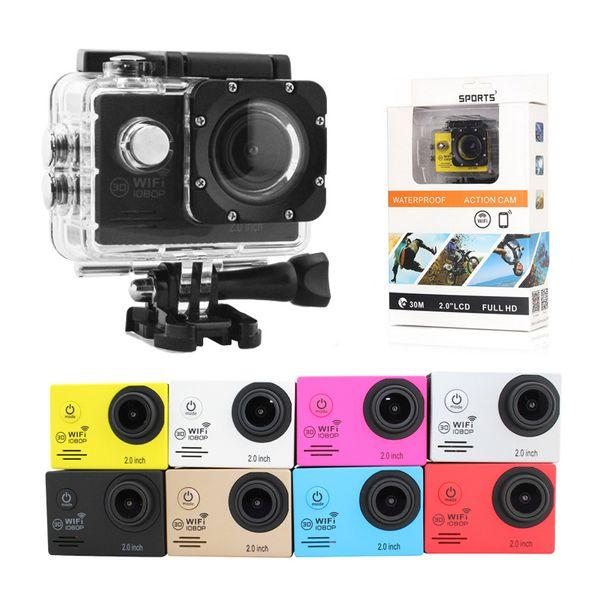 Bonne Qualité Action Caméra SJ7000 Wifi 2.0 LTPS Écran NTK96655 mini enregistreur marine plongée aller étanche pro caméra Sport 1080 P HD DV