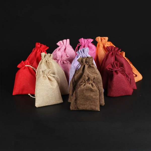 Em branco Simples Pequeno Saco De Pano Com Cordão Saco de Armazenamento De Jóias Embalagem de Presente DIY Saco de Armazenamento de Chá de Doces Vazio T2I391
