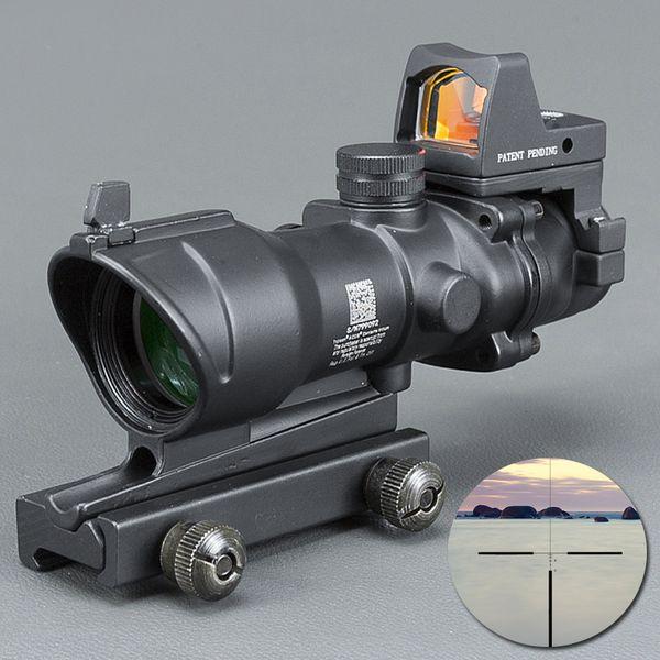 Trijicon ACOG Style 4x32 Alcance con Docter Mini Red Dot Light Sensor (Negro) para cazar ENVÍO GRATIS