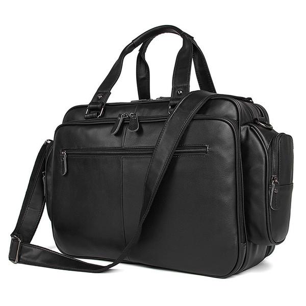 2018 Male Briefcases office bags for man Business Men Briefcases Genuine Leather Handbags Messenger Bag Men Leather Laptop Bag