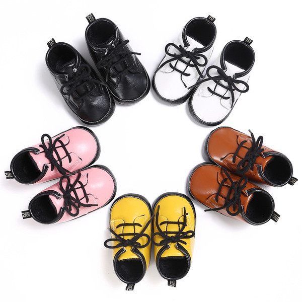 Newborn Baby Boy Girl Shoes Boots PU Leather Booties Toddler Booty Infant Soft Sole No-slip Sneaker First Walker Prewalkers