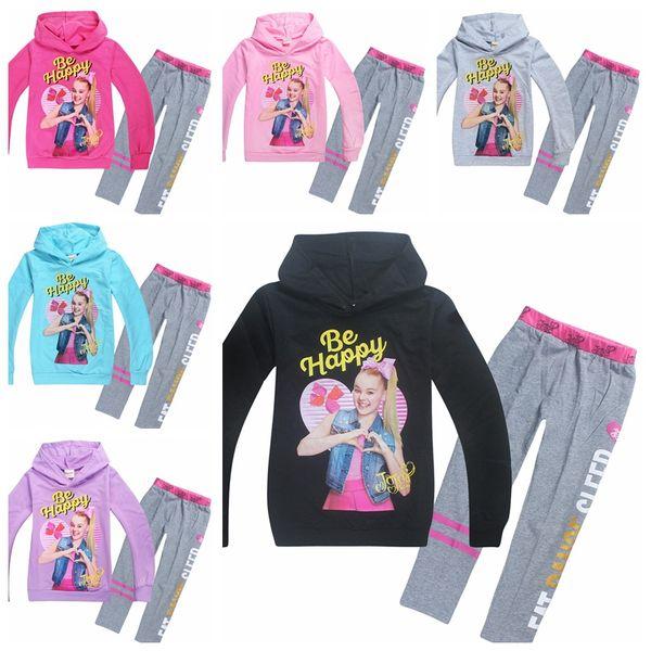Long Sleeve T-shirt Set JOJO SIWA Children Baby Girl Clothing Set 4-12Years Baby Kids hoodies Girls Sweatshirt Clothes MMA891 30lot