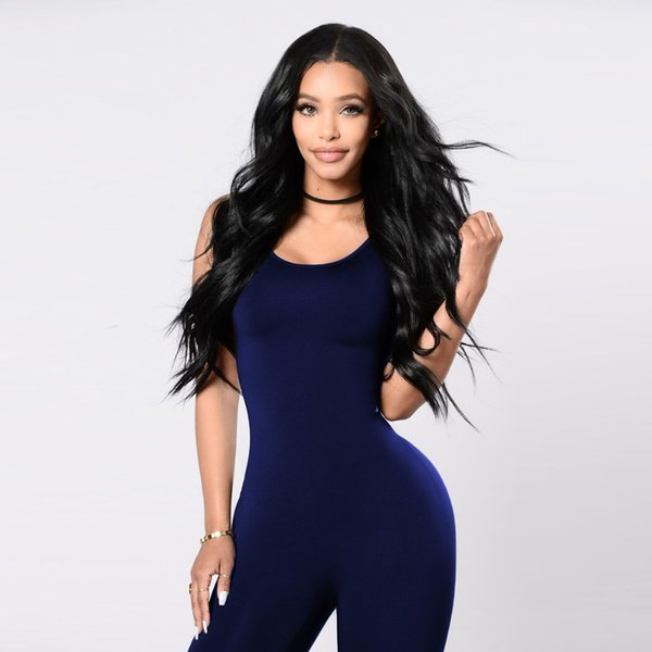 Sexy Bodycon Bodysuit Women Jumpsuit Elastic Fitness Rompers Tank Top Ankle Length Pants Women Tracksuit Female Skinny Jumpsuit