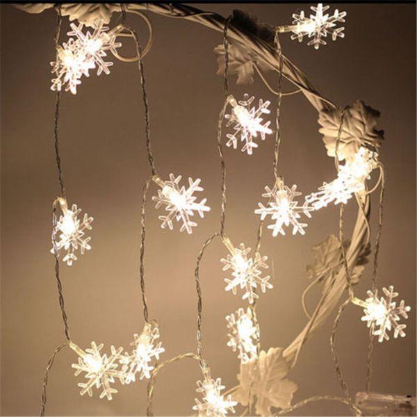 Compre 3m 20 Led árbol De Navidad Copo De Nieve Cadena De Luces De Hadas Año Nuevo Productos Luces De Nieve Natales Para Decoraciones De árboles De