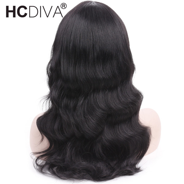 Body Wave Wig With Bangs For Black Women #1 Non-Lace Human Hair Wigs 613# 1B/99J Brazilian Remy Human Hair Wig Pre Plucked With Baby Hair