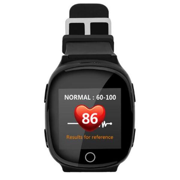 D100 Personnes âgées Enfants Smart Watch GPS + LBS + Wifi Track Tracker Moniteur de fréquence cardiaque Smartwatch anti-perte Avec fonction d'alarme de chute