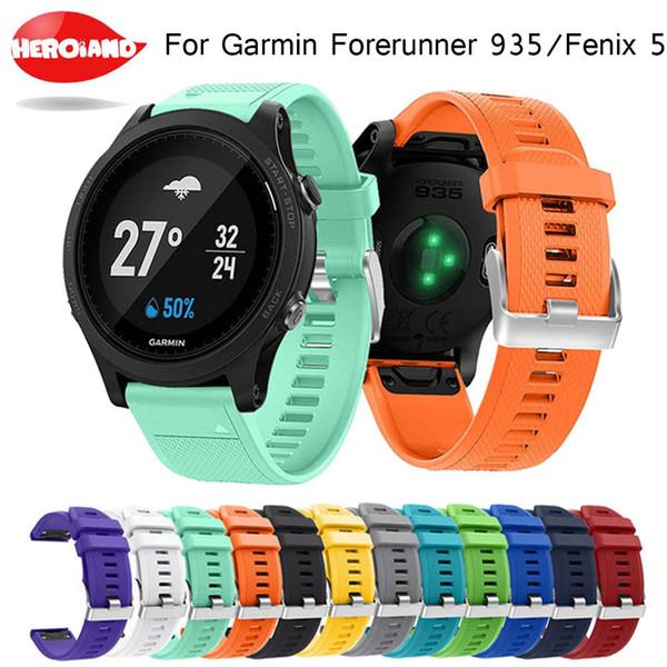 Montre-bracelet à dégagement rapide Bracelet-montre bracelet pour Garmin Fenix 5 forerunner 935 Bracelet de montre en silicone imprimé Fashion Sports Silicone