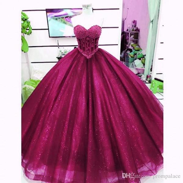 Фиолетовый Ройла синий 2019 блестящие бальное платье Quinceanera платья милая сладкий 16 платья выпускного вечера платья vestidos де quinceañera вечернее платье