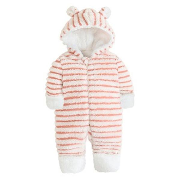 Bebé recién nacido mameluco lana de algodón de invierno de dibujos animados traje de lana ropa de bebé cepillado invierno general cálido manga larga bebé mamelucos mono