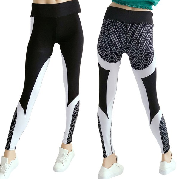 Sportswear Breathable Digital Printed Yoga Pants Women Elastic Fitness Gym Pant Suit Female Flex Tummy Control Jogging Suits