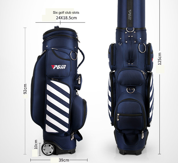 best selling PGM New Arrival Retractable Golf Carry Bag Wheeled Golf Travel Bag Golf Cart Bag OEM Order