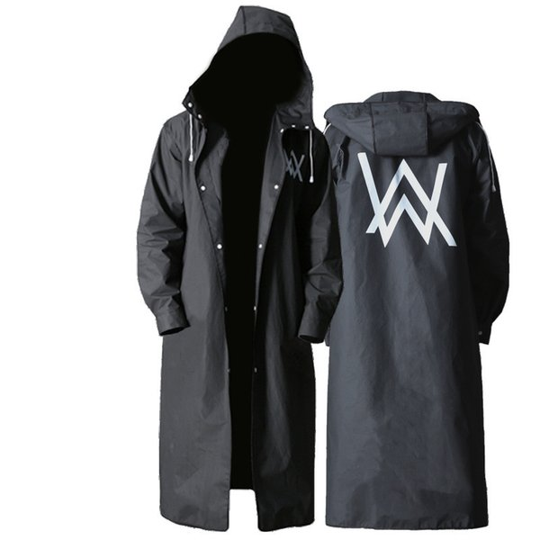EVA impermeable impermeable adultos estilo largo ropa impermeable negro hombre viajes herramientas de lluvia para senderismo lluvia capa YY010