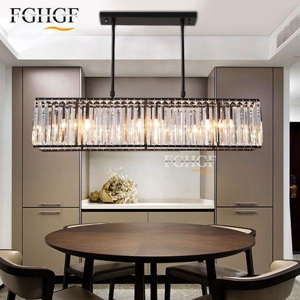 Großhandel Moderne Kristall Kronleuchter Licht Kreative Rechteck  Kronleuchter Lampe Leuchte Vintage Style Lüster Für Wohnzimmer Küche Von ...