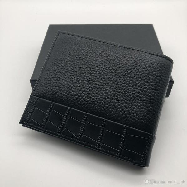 Lüks popüler erkek deri kısa klip cüzdan klip MT cüzdan MB tasarımcı cüzdan kredi kartı tutucu cep fotoğraf M B gelişmiş kutusu