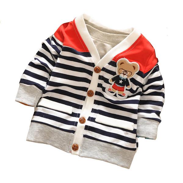 Nova Primavera Outono Meninos Meninas Outwear Camisolas Urso Dos Desenhos Animados Do Bebê Cardigan Camisola De Malha Crianças Roupas