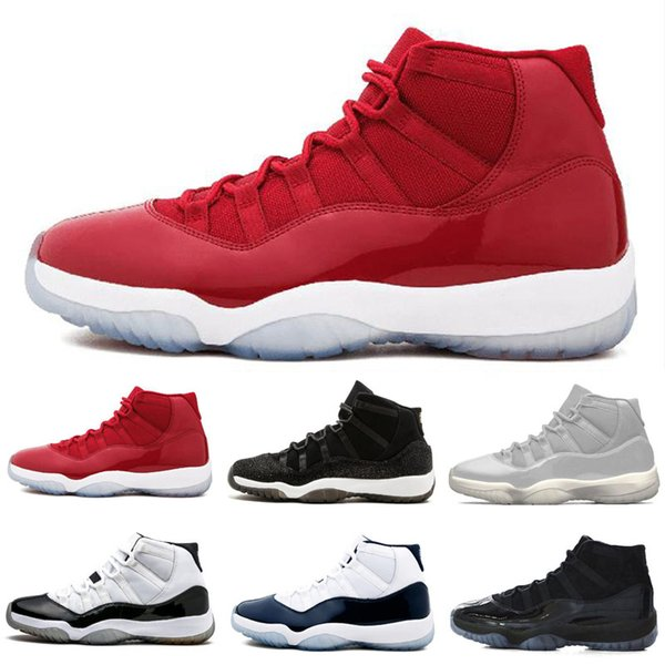 d424f26843d 2018 Cheap 11 Gym Red Navy Men Basketball Shoes Space Jam Womens 11s Sports  Sneakers US 5.5-13