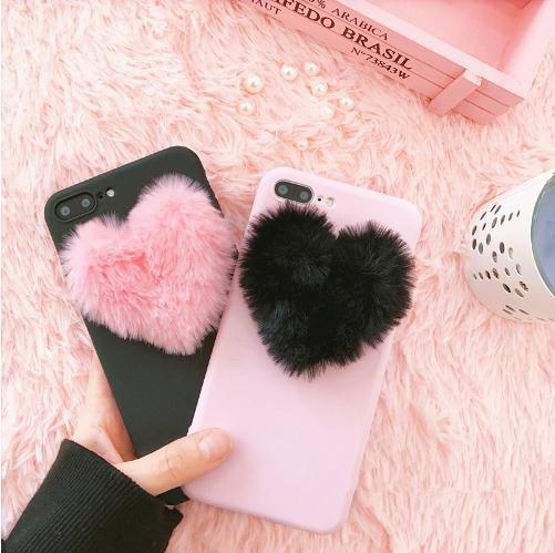 Japan Korea 3D love plush super cute soft case for iphone 5 5s 6 6s 7 8 plus 10 X cover for samsung galaxy S6 S7 edge S8 note 8