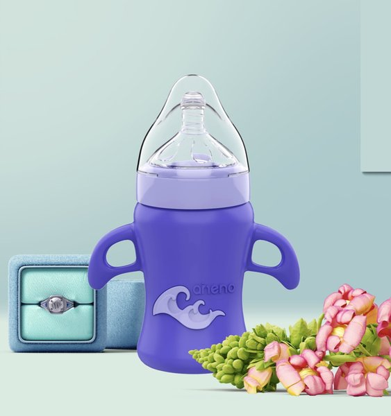 New arrival boron crystal glass(A011);Anti-Colic nipple & straw;Wide - mouthed;Cross-cut nipple;Heat-resistant;food grade liquid silicone.