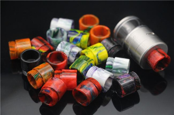 wholesale vape Epoxy Resin drip tip for avocado 24 rda rta tank atomizer wide bore drip tips for ecig vapor