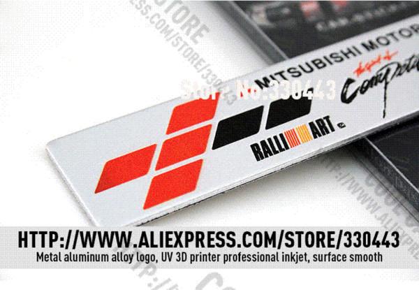 Aluminum RALLIART Car stickers car styling For MITSUBISHI lancer 10 pajero ASX outlander 2013 2014 l200 car emblem