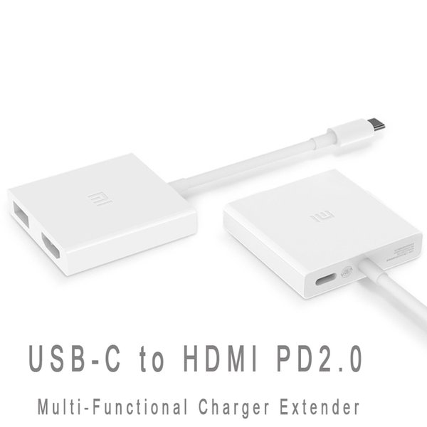 Original Xiaomi USB-C to HDMI Multi-Functional Adapter for Mi Notebook Air 4K PD2.0 HD Video Converter Type-C Data Transfer Hub