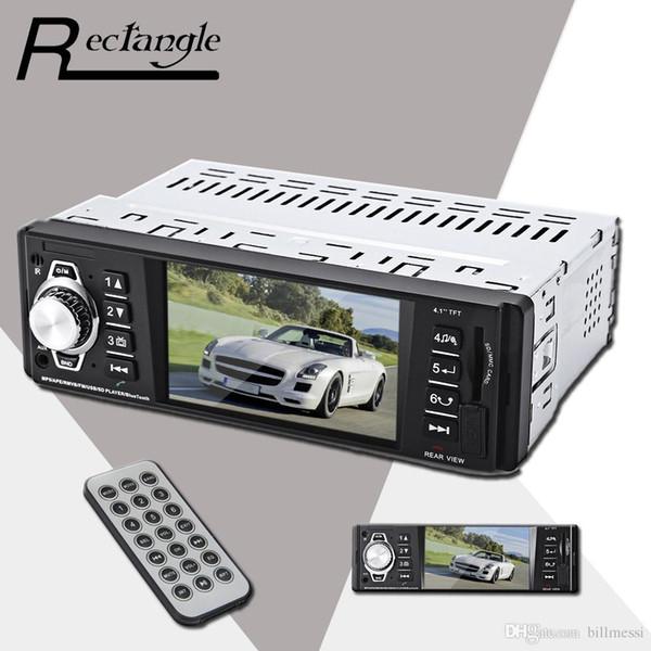 4016C 4.1 pulgadas incrustadas 1 Din Car MP5 Player Navigation MP3 Video Audio FM Radio Soporte de control remoto USB SD AUX Car Styling For Cars + B