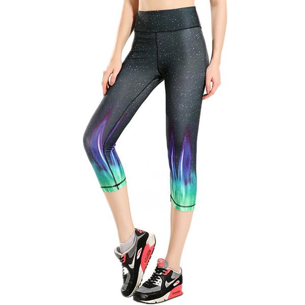 Femme Sport Leggins Gym Flame Imprimer Pantalon De Jogging Pour Femmes Fitness Danse Capri Pantalon Formation Femmes Gym Vêtements Dropship