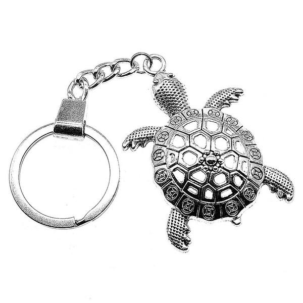 6 Pieces Key Chain Women Key Rings Fashion Keychains For Men Big Turtle Tortoise Cuckold 55x37mm