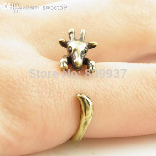 Großhandels-Heiße Verkaufs-Giraffen-Tierverpackungs-Ringe für Frauen und Mädchen-einzigartige Ringe feiner Schmuck