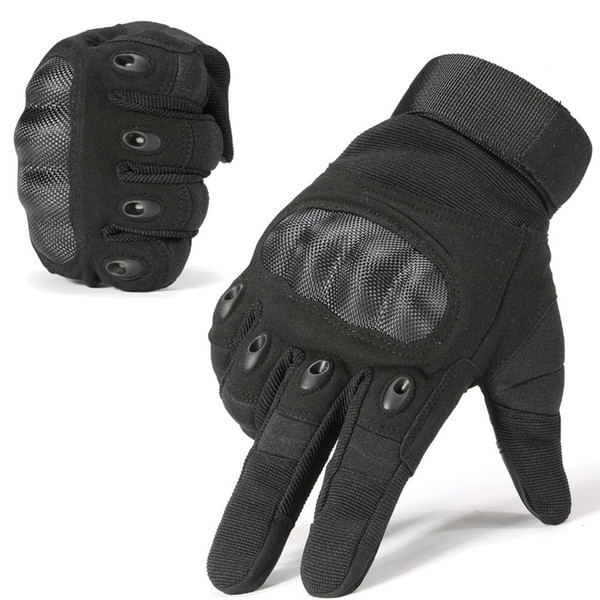 New Brand Tactical Gloves Military Army Paintball Airsoft Shooting Police Carbon Hard Knuckle Combat Full Finger Gloves for Man D18110705