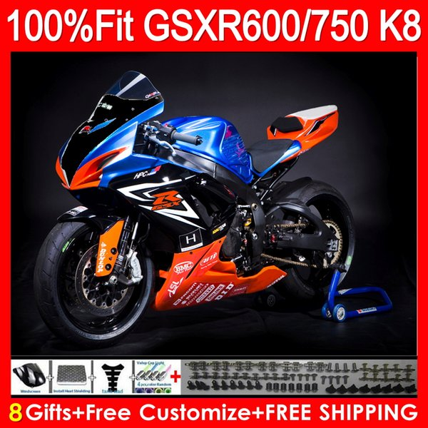 Racing windshield R1 15+ K8 Fairing For SUZUKI GSXR600 GSXR750 08 09 10 11HM20 GSX R600 R750 K8 GSX-R600 GSXR 600 750 2008 2009 2010 Fairing