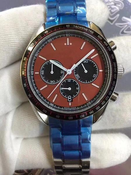 2018 Classic super blau grün nachtlicht uhr Chronograph OS Quarz Uhren Männer Top-marke Luxus uhr Professionelle Armbanduhren