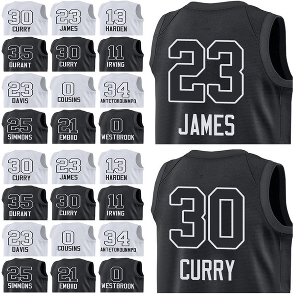 check out c7626 b6530 2018 23 LeBron 11 Irving 10 DeROZAN Men'S 2018 All Star Jerseys 35 Durant  30 Curry 34 Antetokounmpo 21 Embiid 25 Simmons 23 Davis From Newest_jersey,  ...
