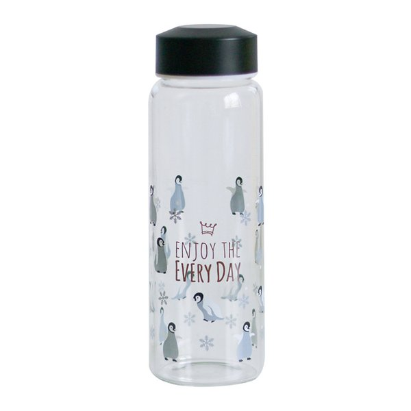 460ml Korea Style 2018 New Design Glass Bottles Cute Animal Pattern Creative Portable Water Cup Christmas Gift Drinkware 3 Colors