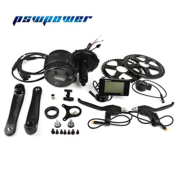 Free shipping PSWPOWER 36V250W Bafang/8fun BBS01B mid drive motor C961 or C965 or C963 lcd geared eletric bicycle ebike kits