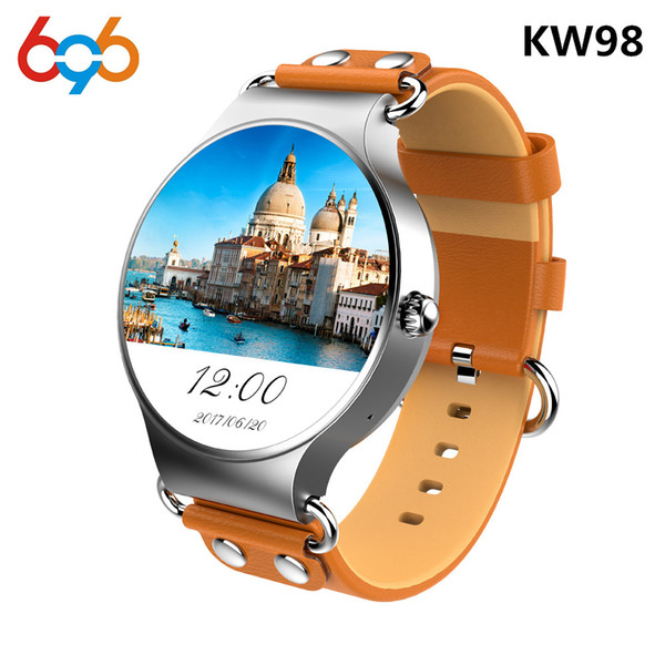 696 Newest KW98 Smart Watch Android 5.1 3G WIFI GPS Watch MTK6580 Smartwatch Android For Gear S3 Xiaomi PK KW88