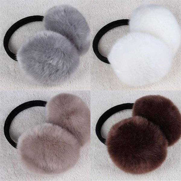 Simülasyon Tavşan Saç Earmuffs Kadın Güzel Peluş Kulak Muff Noel Hediyesi Sevimli Isıtıcı Kış Unisex Moda 4 5lx Tutmak kk